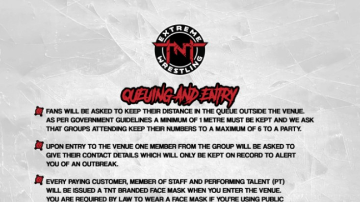 TNT Extreme Wrestling new COVID-19 procedures